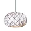 Tetra 3 Light Chandelier In Polished Chrome And White Tiffany Glass