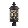 Cornerstone Tuscany Coast 2 Light Exterior Post Lamp In Weathered Charcoal