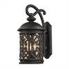 Cornerstone Tuscany Coast 2 Light Exterior Wall Mount In Weathered Charcoal