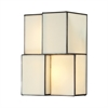 ELK lighting Cubist 2 Light Wall Sconce In Brushed Nickel