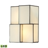 Cubist 2 Light LED Wall Sconce In Brushed Nickel