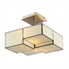 ELK lighting Cubist 2 Light Semi Flush In Brushed Nickel