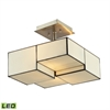 ELK lighting Cubist 2 Light LED Semi Flush In Brushed Nickel
