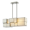 ELK lighting Cubist 4 Light Chandelier In Brushed Nickel