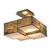 Cubist 2 Light Semi Flush In Brushed Nickel