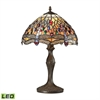 Dragonfly 1 Light LED Table Lamp In Dark Bronze