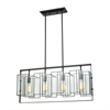Stratus 4 Light Chandelier In Oil Rubbed Bronze With Clear Glass