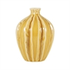 Ripples Vase In Crackle Ochre