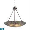 Avalon 5 Light LED Pendant In Satin Nickel