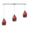 ELK lighting Avalon 3 Light Pendant In Satin Nickel