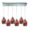 ELK lighting Avalon 6 Light Pendant In Satin Nickel