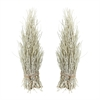 Lazy Susan White Washed Coco Twig Sheaf - Set Of 2