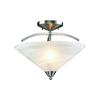 ELK lighting Elysburg 2 Light Semi Flush In Satin Nickel