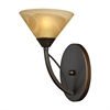 Elysburg 1 Light Wall Sconce In Aged Bronze And Tea Stained Glass