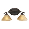 ELK lighting Elysburg 2 Light Vanity In Aged Bronze And Tea Stained Glass
