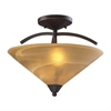 ELK lighting Elysburg 2 Light Semi Flush In Aged Bronze