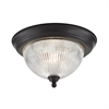 Liberty Park 2 Light Flush Mount In Oil Rubbed Bronze