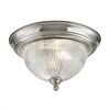 Liberty Park 2 Light Flush Mount In Brushed Nickel