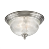 Cornerstone Liberty Park 3 Light Flush Mount In Brushed Nickel