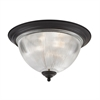 Cornerstone Liberty Park 3 Light Flush Mount In Oil Rubbed Bronze