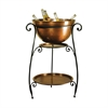 Pomeroy La Forge Beverage Stand, Rustic,Copper