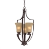 Cornerstone Foyer Collection 3 Light Pendant In Oil Rubbed Bronze
