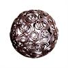 Prairie Curls Deco 4-Inch Sphere, Rustic