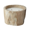 Lazy Susan White Pepper Log Candle - Sm