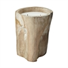 Lazy Susan White Pepper Log Candle - Lg
