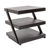 Lazy Susan Stacked Black Teak Side Table