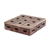 Lazy Susan Chocolate Teak  Patterned Box - Lg