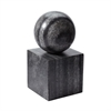 Lazy Susan Gray Marble Minimalist Bookend