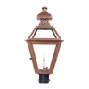 Bayou Outdoor Gas Post Lantern In Aged Copper