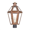Grande Isle Outdoor Gas Post Lantern In Aged Copper