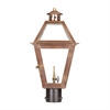 ELK lighting Grande Isle Outdoor Gas Post Lantern In Aged Copper