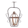 Grande Isle Outdoor Gas Ceiling Lantern In Aged Copper