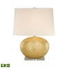 Gold Oval Ceramic LED Table Lamp