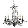 ELK lighting Circeo 5 Light Chandelier In Deep Rust