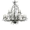 Circeo 15 Light Chandelier In Deep Rust