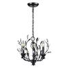 Circeo 3 Light Chandelier In Deep Rust And Crystal Droplets