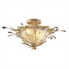 ELK lighting Circeo 2 Light Flushmount In Russet Beige And Caramel Glass