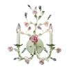 Heritage 2 Light Wall Sconce In Cream With Pink Porcelain Accents