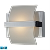 ELK lighting Epsom 1 Light LED Vanity In Polished Chrome And White Etched Glass