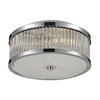 ELK lighting Amersham 3 Light Flush Mount In Chrome