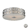ELK lighting Wickham 3 Light Flushmount In Polished Chrome - Includes Recessed Lighting Kit