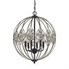 Crystal Web 6 Light Chandelier In Bronze Gold And Matte Black With Clear Crystal