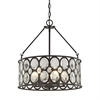 Serai 5 Light Chandelier In Oil Rubbed Bronze With Clear Glass