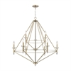 Lacombe 9 Light Chandelier In Aged Silver With Clear Glass Accents