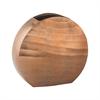 Faux Bois Oval Vase