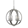 ELK lighting Lindisfarne 6 Light Pendant In Polished Nickel And Clear Crystal